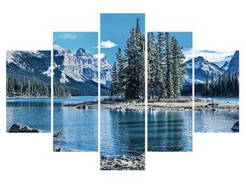 Tablou cu peisaj montan de iarnă (K014690K150105)