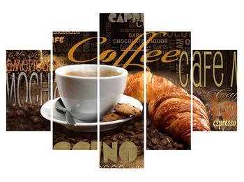 Tablou cu cafea și croissanți (K014700K150105)