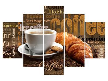 Obraz šálky kávy a croissantov (K014704K150105)
