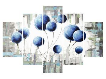 Abstraktný obraz - modré balóniky (K014707K150105)