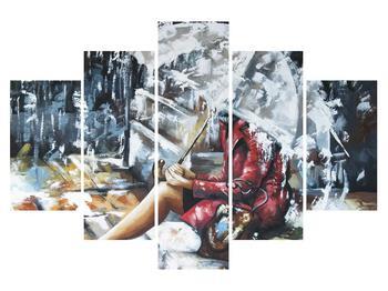 Obraz ženy pod deštníkem (K014715K150105)