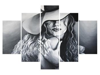 Tablou cu femeie în pălărie (K014716K150105)