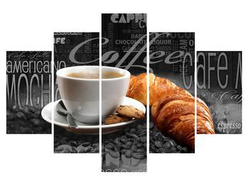 Tablou cu cafea și croissanți (K014722K150105)