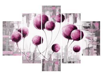 Abstraktný obraz - ružové balóniky (K014723K150105)