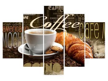 Tablou cu cafea și croissanți (K014725K150105)