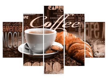 Obraz kávy a croissantov (K014740K150105)