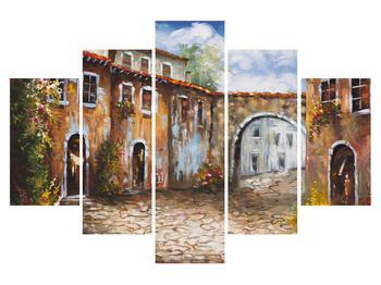 Obraz maľovanej stredomorskej uličky (K014855K150105)