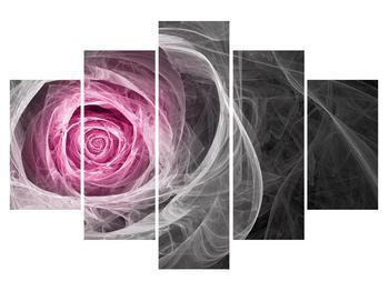 Abstraktní obraz růže (K014952K150105)