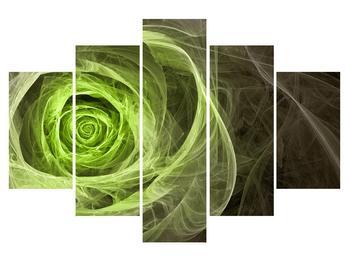Abstraktní obraz zelené růže (K014957K150105)