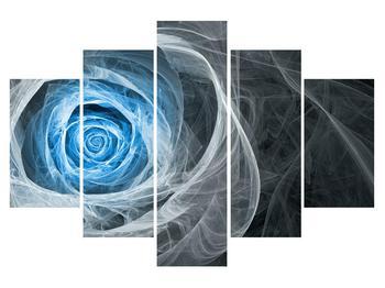 Absztrakt kép kék rózsa (K014962K150105)