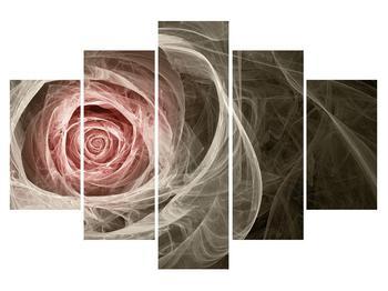 Tablou abstract cu trandafir (K014988K150105)