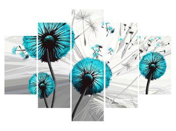 Moderný obraz modrých púpav (K015031K150105)