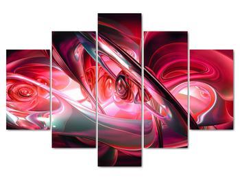 Obraz červených fraktálov (V020069V150105)