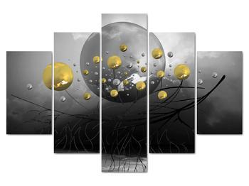 Obraz zlatých abstraktných gulí (V020099V150105)