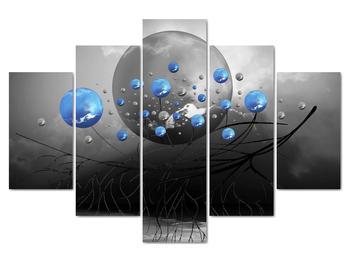 Obraz modrých abstraktných gulí (V020102V150105)
