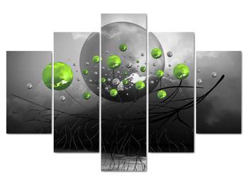 Obraz zelených abstraktných gulí (V020103V150105)