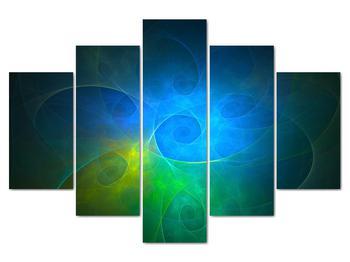 Obraz modrej abstrakcie (V020122V150105)
