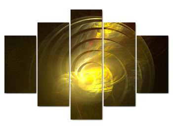 Obraz žltej abstraktnej špirály (V020124V150105)