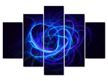 Obraz modrého abstraktného klbka (V020135V150105)
