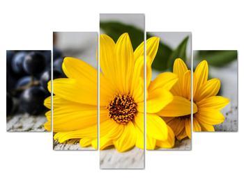 Obraz žltých kvetov (V020170V150105)