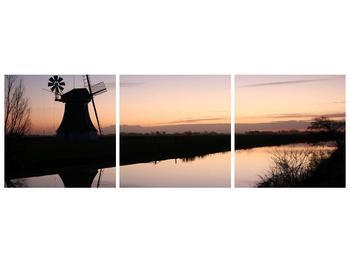 Obraz rybníku u mlýna (F001556F15050)