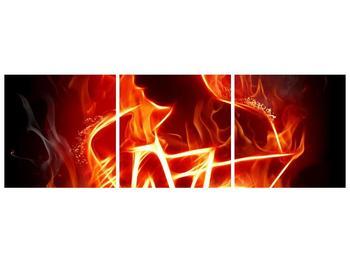Obraz ohnivé postavy (F001691F15050)