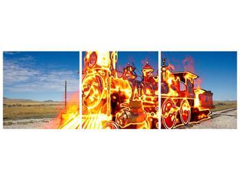 Obraz ohnivé lokomotivy (F001696F15050)