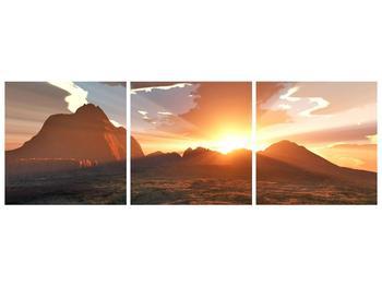 Obraz západu slunce nad horama (F001700F15050)