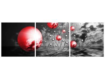 Moderní obraz - červené koule (F002086F15050)