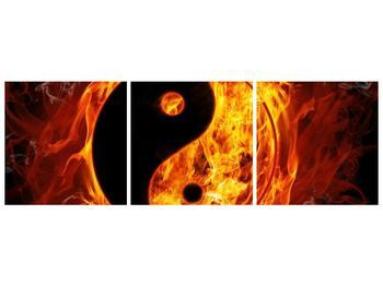 Obraz hořícího jin jang (F002309F15050)