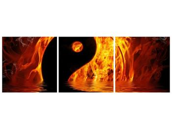 Obraz hořícího Jin Jangu  (F002885F15050)