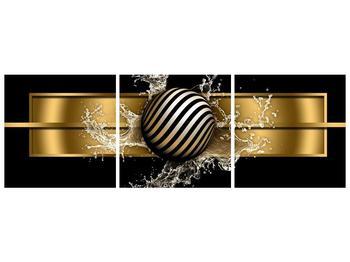 Obraz pruhované koule a vody (F004116F15050)