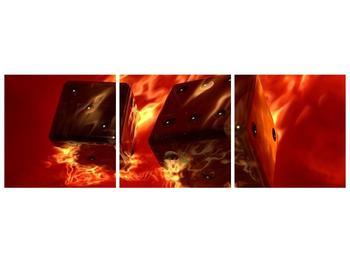 Moderní obraz hořících herních kostek (F004319F15050)