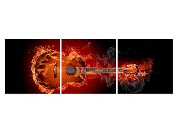 Lángoló gitár képe (K011168K15050)