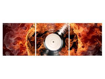 Tablou cu placă de gramofon în foc (K011171K15050)