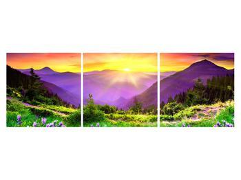 Obraz horské krajiny s východem slunce (K011873K15050)