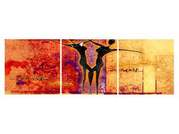 Tablou abstract cu doi dansatori (K011975K15050)
