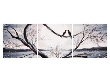 Tablou cu păsări îndrăgostite (K012516K15050)