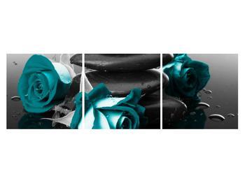 Tablou cu trandafiri albastre (K012553K15050)