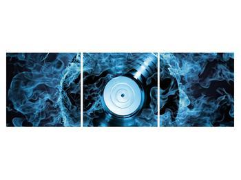 Tablou cu placă de gramofon în foc albastru (K014442K15050)