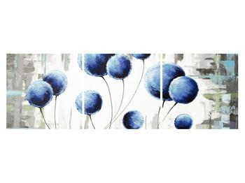 Abstraktní obraz - modré balónky (K014707K15050)