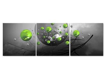 Obraz zelených abstraktných gulí (V020103V15050)