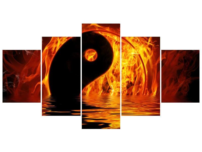Obraz hořícího Jin Jangu  (F002885F150805PCS)