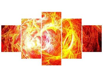 Abstraktní oranžový obraz (F000152F150805PCS)