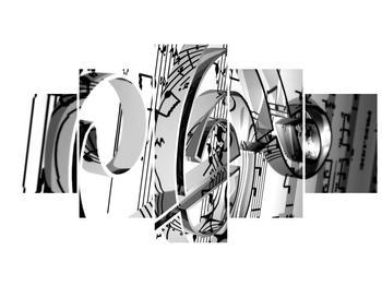 Moderní obraz houslového klíče (F000206F150805PCS)