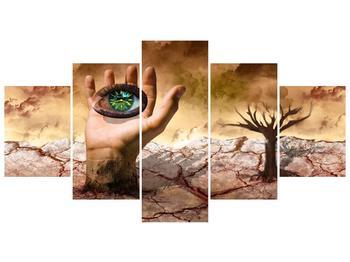 Obraz oka na dlaňi (F001485F150805PCS)