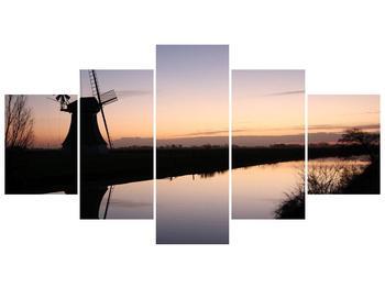 Obraz rybníku u mlýna (F001556F150805PCS)
