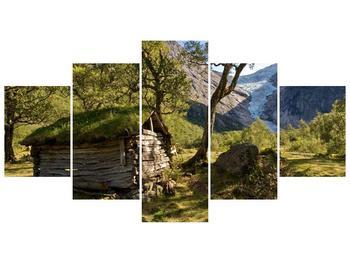 Obraz horské chatrče (F001636F150805PCS)