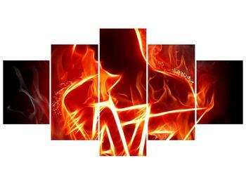 Obraz ohnivé postavy (F001691F150805PCS)