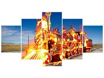 Obraz ohnivé lokomotivy (F001696F150805PCS)